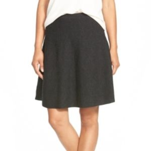 Eileen Fisher Knit Merino Wool A-Line Skirt